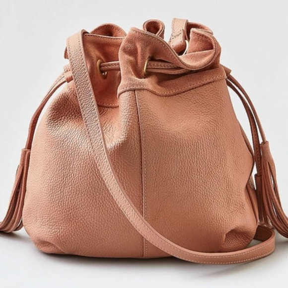 American Eagle Outfitters Handbags - American Eagle Leather & Suede Bucket Bag